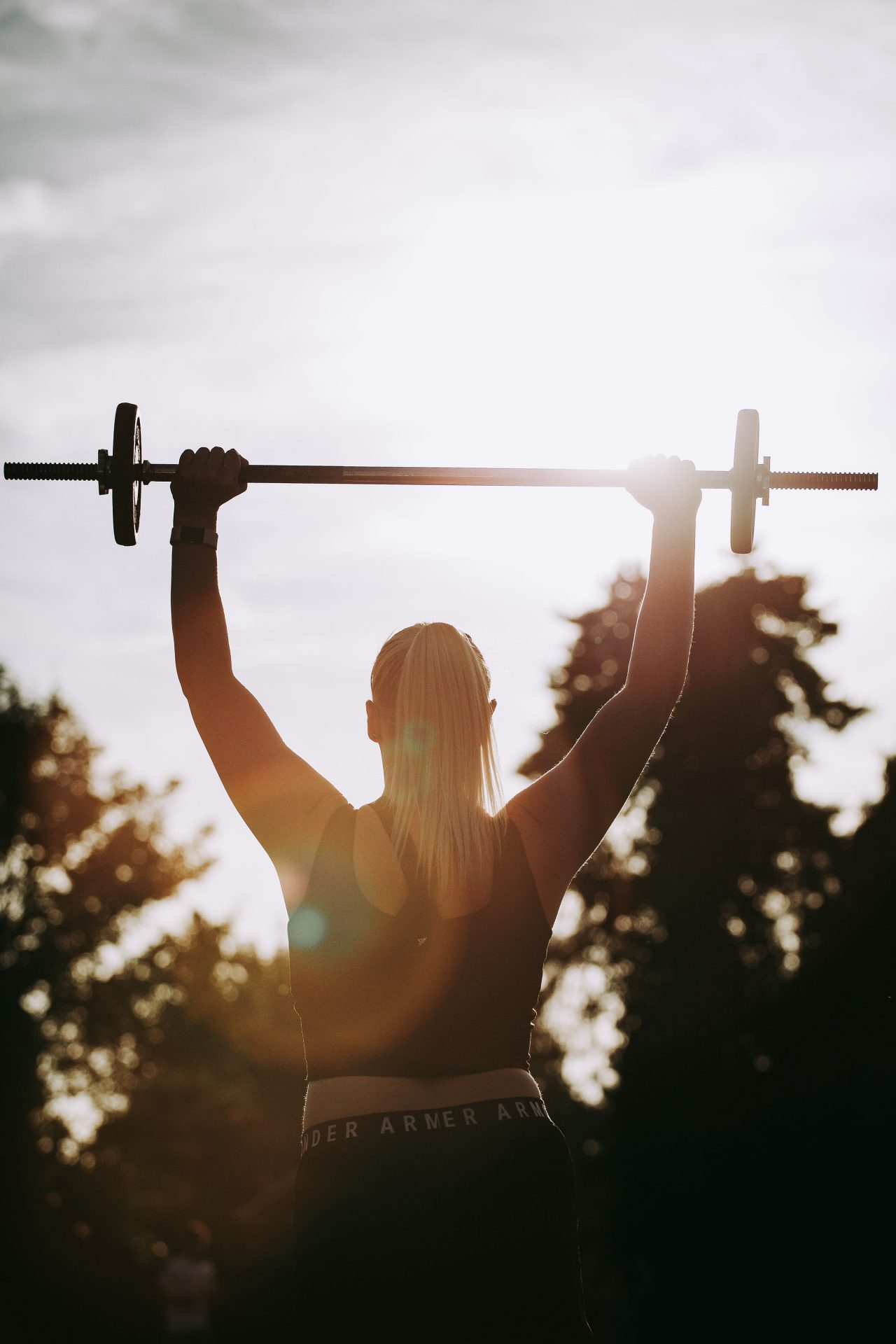 weight lifting by girl