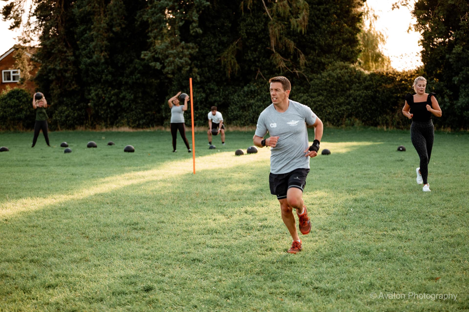 Training at camp