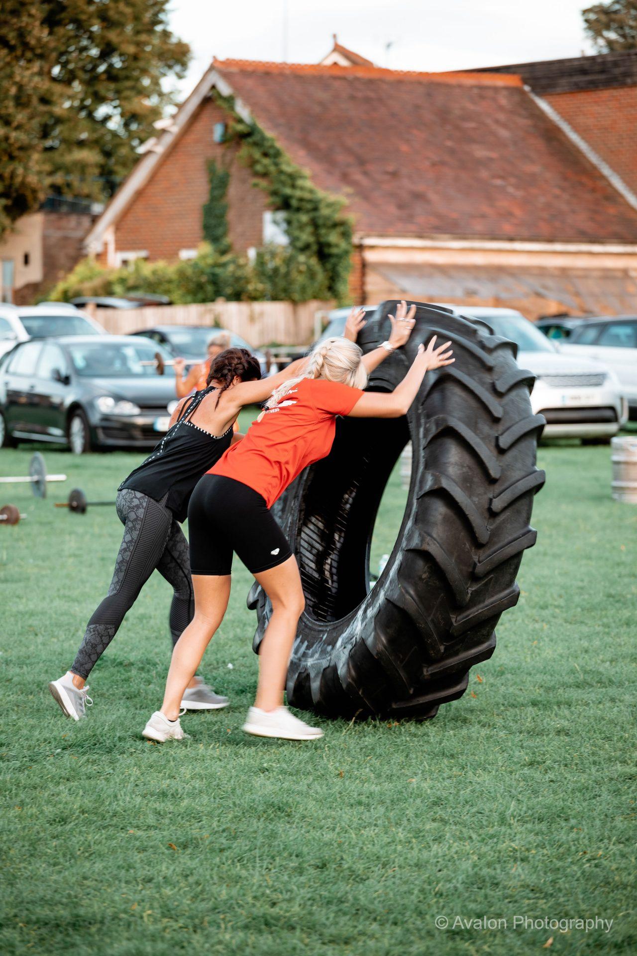 Pushing giant weight